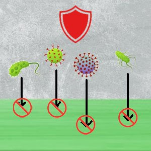 Disinfection services : virus approaching surface